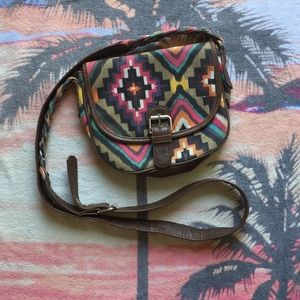American Eagle Aztec Print Boho Shoulder Bag Purse